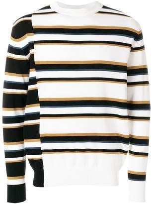 MAISON KITSUNÉ Surf striped jumper