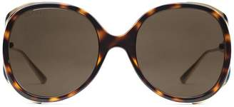 Gucci Round-frame injected sunglasses