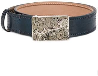 Etro paisley buckle belt
