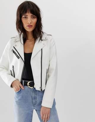 Vero Moda faux leather biker jacket