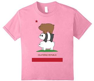 CN We Bare Bears California Flag Stack Graphic T-Shirt