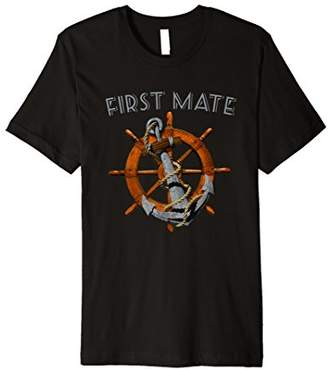 First Mate Anchor Helm Nautical Sailing T-Shirt