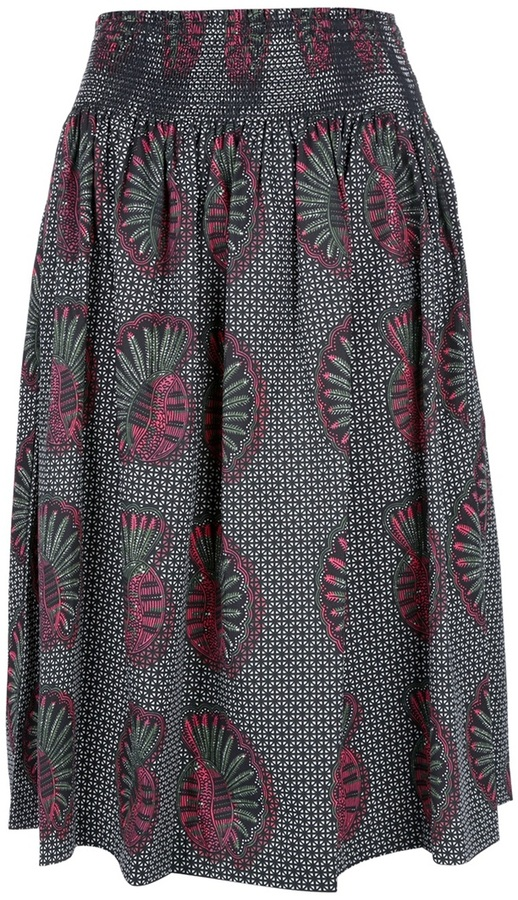 Laurence Dolige 'Paternoster' ethnic print skirt