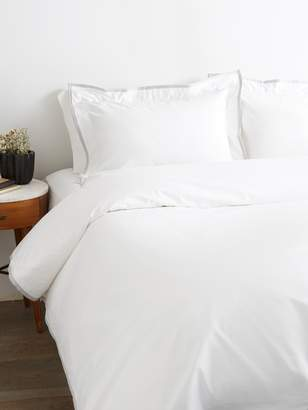 Saks Fifth Avenue Luxe Petite Border Sateen Duvet Set