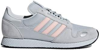 adidas grey and pink ZX 452 SPZL suede sneakers