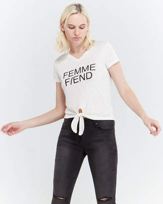 Jessica Simpson Femme Fiend Knotted Tee