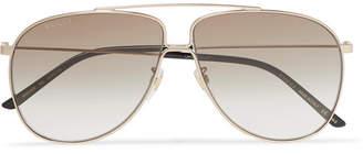 e86f985219d Gucci Aviator-Style Gold-Tone Sunglasses