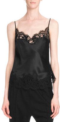 Givenchy Lace-Trim Camisole, Black $1,520 thestylecure.com