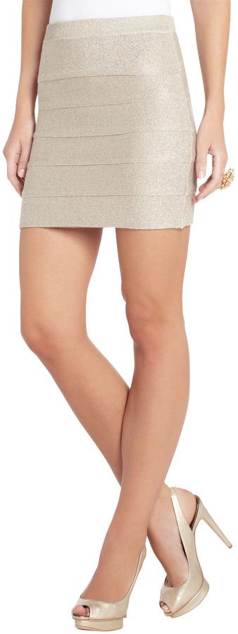 BCBGMAXAZRIA Leeann Layered Miniskirt