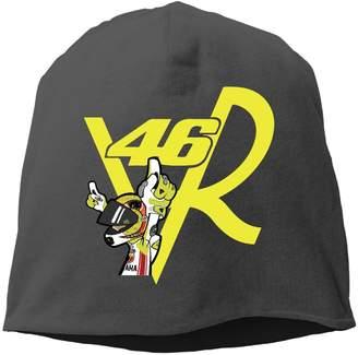 Valentino Runningway Unisex Rossi Moto Racing Outdoor Trendy Skull Cap Beanie Hat
