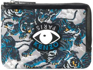 Kenzo Eye and Tiger print coin purse