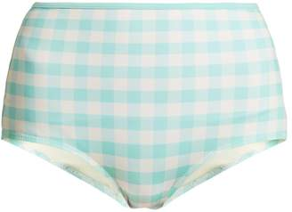 Solid & Striped The Brigitte high-rise gingham bikini briefs