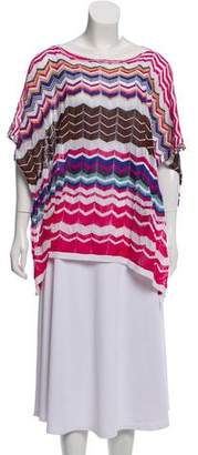 Missoni Patterned Bateau-Neck Cape w/ Tags