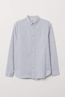 H&M Regular Fit Cotton Shirt - Gray