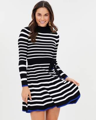 Karen Millen Stripe Knit Skater Dress