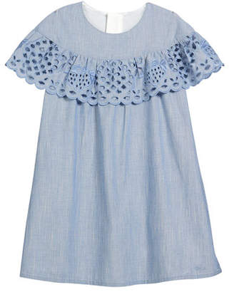 Chloé Strawberry Eyelet Ruffle Dress, Size 2-5