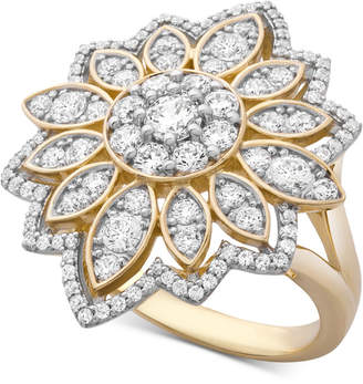 Wrapped in Love Diamond Flower Cluster Ring (1-1/2 ct. t.w.) Ring in 14k Gold