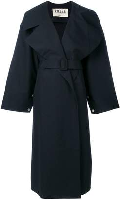Awake oversized belted coat