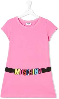 Moschino Kids logo belt print T-shirt