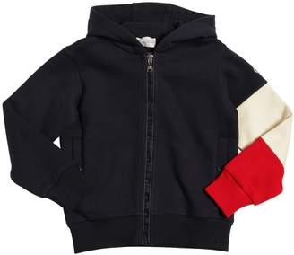 Moncler Contrast Sleeve Cotton Sweatshirt Hoodie