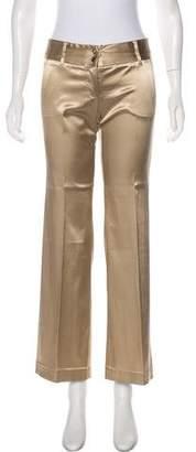 Dolce & Gabbana Mid-Rise Satin Pants