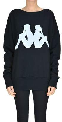 Women's Black Cotton Sweatshirt.
