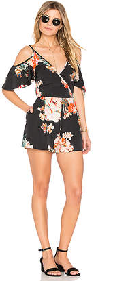 Band of Gypsies Large Floral Playsuit in Black $69 thestylecure.com