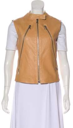 Maison Margiela Leather Zip-Up Vest