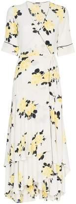 Ganni V-neck floral print dress