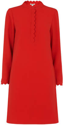 ee401149 Red Scallop Shift Dress - ShopStyle UK