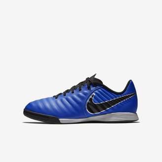Nike Jr. Tiempo LegendX VII Academy IC Little/Big Kids' Indoor/Court Soccer Cleat