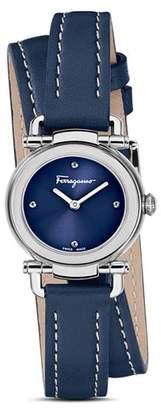 Salvatore Ferragamo Gancino Casual Blue Leather Watch, 26mm