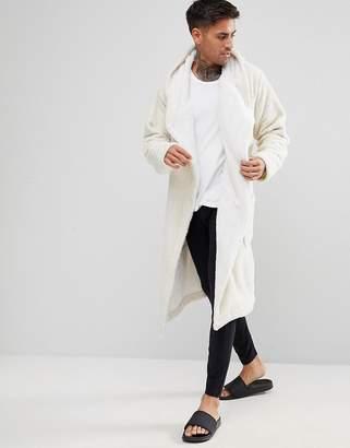 Asos Glitter Fleece Hooded Robe