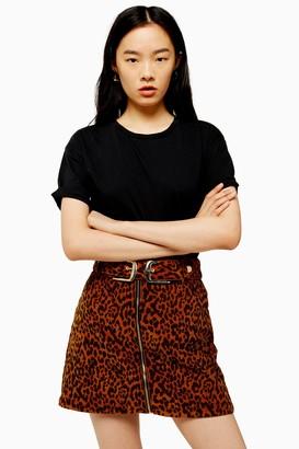 Topshop TALL Black Raw Hem T-Shirt