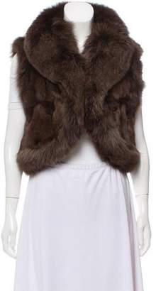 Jocelyn Collared Fur Vest