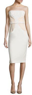 Black Halo Shelina Laser-Cut Strapless Dress $575 thestylecure.com