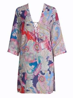 Gottex Swim Watercolor Paisley Tunic