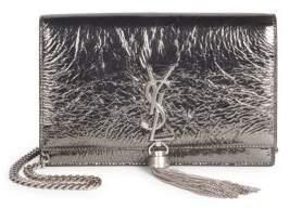 Saint Laurent Kate Metallic Cuir Lame Leather Crossbody Clutch