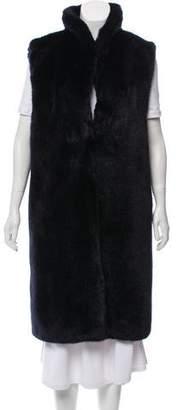 Reiss Long Faux Fur Vest