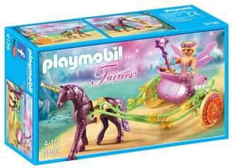 Playmobil UK Girls Fairies Unicorn-Drawn Fairy Carriage