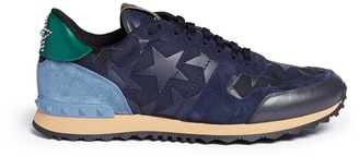 Valentino 'Camustars Rockrunner' leather patch sneakers