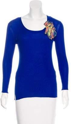 Fendi Silk Appliqué Sweater