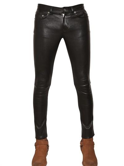 Saint Laurent 15.5cm Stretch Nappa Leather Trousers