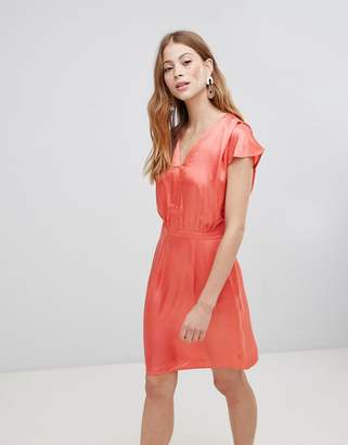 Vila V Neck Silky Dress