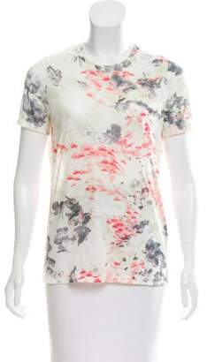 Prabal Gurung Short Sleeve Floral Print Top