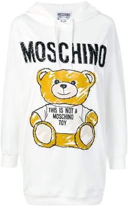 Moschino Sketch Bear hoodie dress