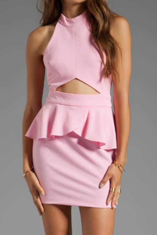 Naven Cut-Out Peplum Dress