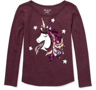 Children's Place The Sequin Unicorn Long Sleeve Tee (Little Girls & Big Girls)