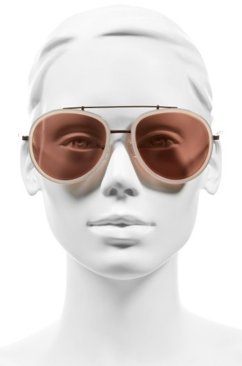Women's Kendall + Kylie Jules 58Mm Aviator Sunglasses - Matte Demi/ Matte Gold 5