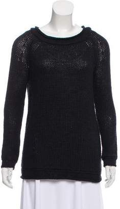 Halston Alpaca Rib Knit Sweater